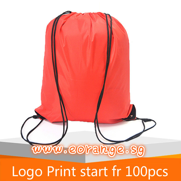 Classic Polyester Drawstring Backpacks Silk Screen Print or Heat transfer Customizable logo print