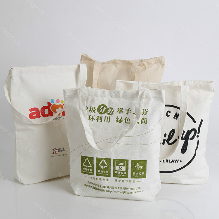 Get Customized logo print canvas bags Starts from 100pcs for Running race, company event, career fair, trade show, exhibition and conference.