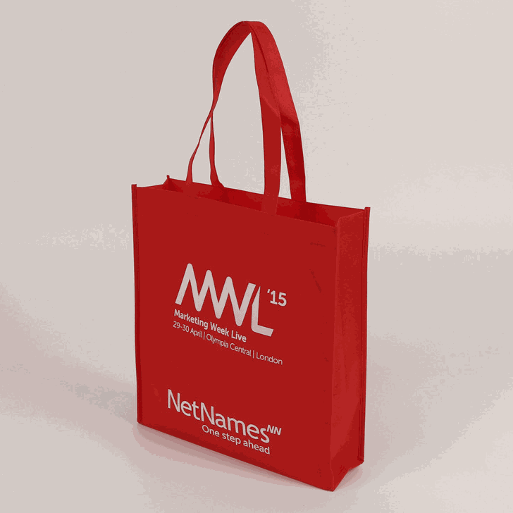 Non woven bag Silk Screen Print or Heat transfer Customizable logo print event