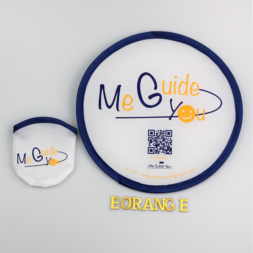 Nylon Foldable Fan for event summer giveaway customised logo print Running race, company event, career fair, trade show, exhibition and conference.
