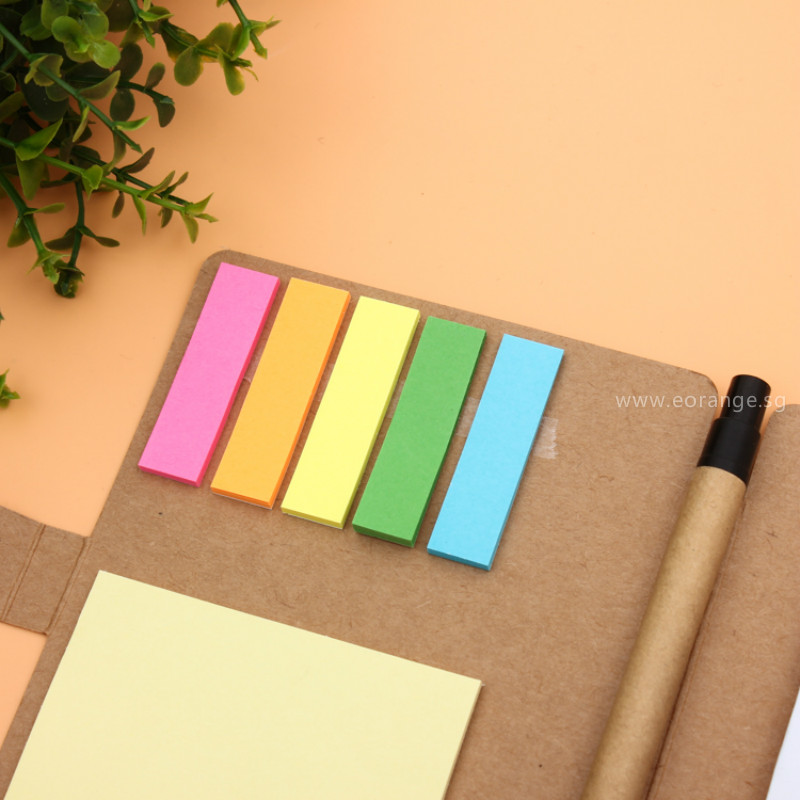 Eco-Friendly Desk Essentials Notebooks with Sticky Memo-pad and Pen