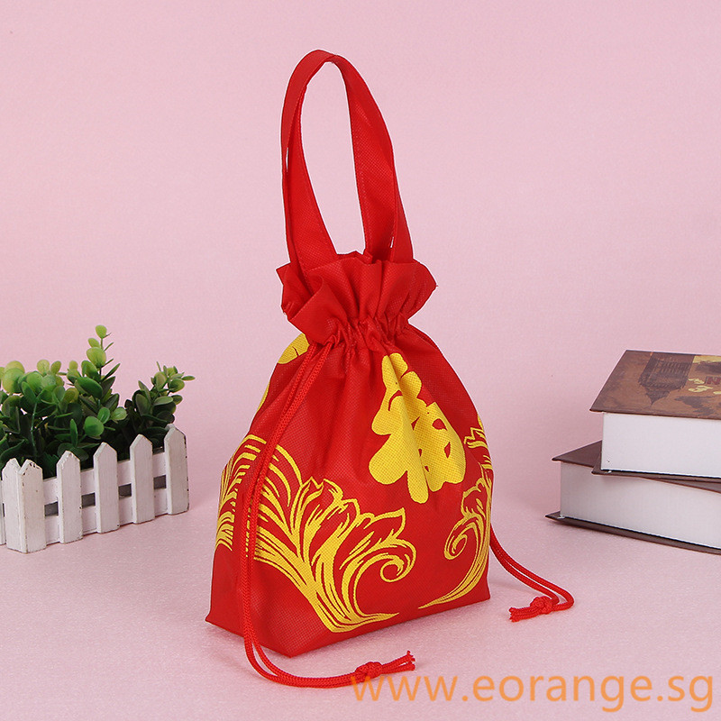 Non Woven drawstring bag with Handle