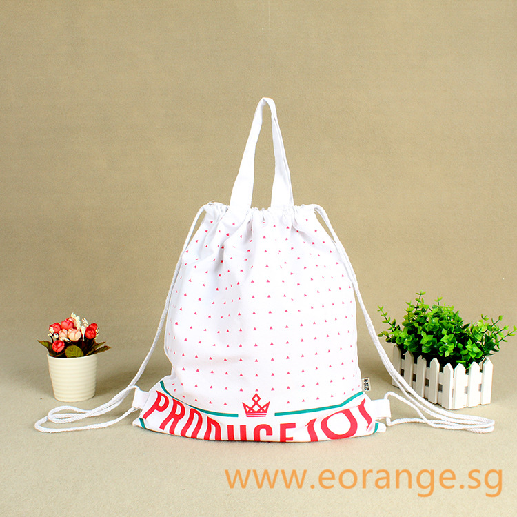 Canvas Drawstring Bag with Handle