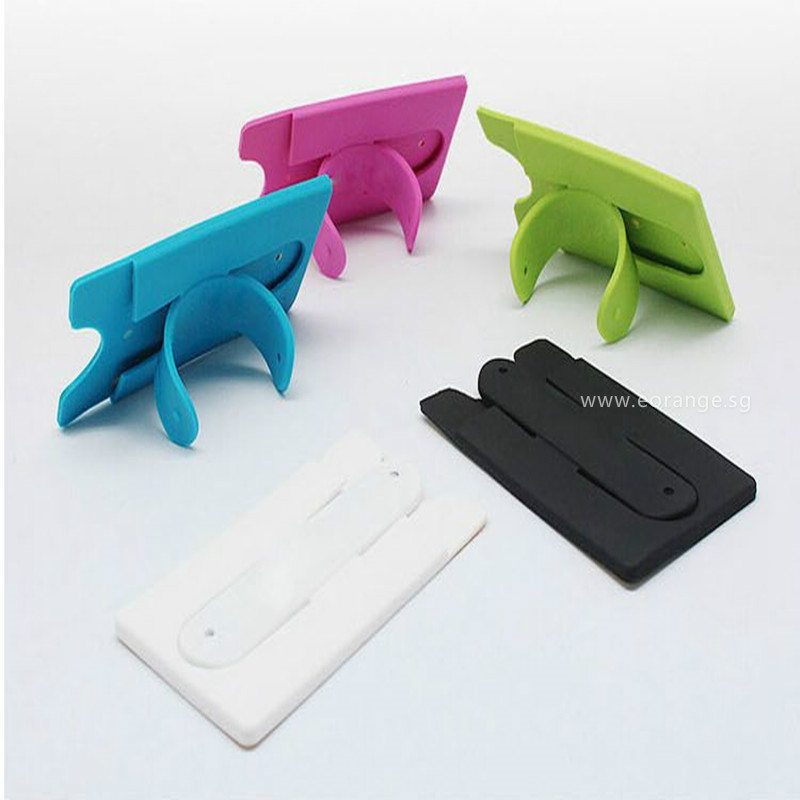 2 in 1 Silicon Phone Stand with Cardholder/Wallet